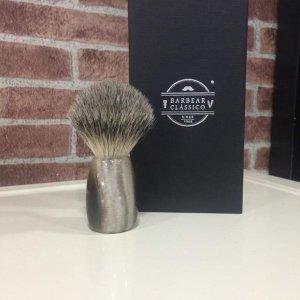 Pincel de barbear texugo Barbear clássico